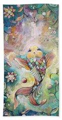 Joyful Koi II Beach Sheet by Shadia Derbyshire