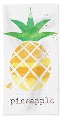 Juicy Pineapple Beach Towel by Linda Woods