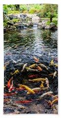 Kauai Koi Pond Beach Towel by Darcy Michaelchuk