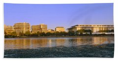 Kennedy Center And Watergate Hotel Beach Sheet by Panoramic Images