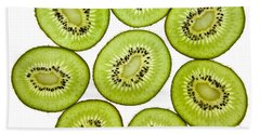 Kiwifruit Beach Towel by Nailia Schwarz