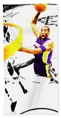 Kobe Bryant Flight Mode Beach Towel by Brian Reaves