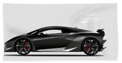Lamborghini Sesto Elemento Beach Towel by Mark Rogan