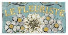 Le Fleuriste De Botanique Beach Towel by Debbie DeWitt