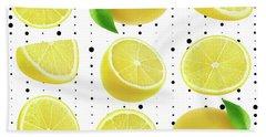 Lemon  Beach Towel by Mark Ashkenazi