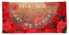 Beach Sheet featuring the photograph Lest We Forget - 1914-1918 by Travel Pics