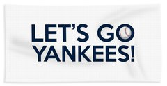 Let's Go Yankees Beach Sheet by Florian Rodarte