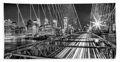Light Trails Of Manhattan Beach Towel by Az Jackson