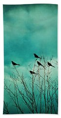 Like Birds On Trees Beach Sheet by Trish Mistric