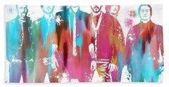 Linkin Park Watercolor Paint Splatter Beach Sheet by Dan Sproul