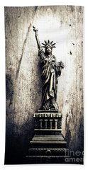 Little Lady Of Vintage Usa Beach Towel by Jorgo Photography - Wall Art Gallery