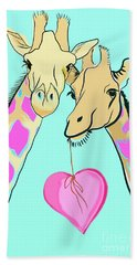 Long Neck Love Beach Towel by Susie Cunningham