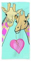 Long Neck Love Beach Sheet by Susie Cunningham