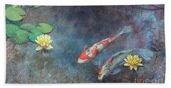 Lotus Pool Beach Sheet by Lori McNee