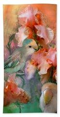 Love Among The Irises Beach Towel by Carol Cavalaris