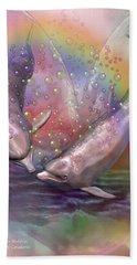 Love Bubbles Beach Towel by Carol Cavalaris
