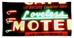 Loveless Cafe- Art By Linda Woods Beach Sheet by Linda Woods