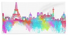 Lovely Paris  Beach Sheet by Prar Kulasekara