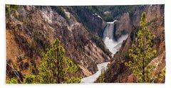Lower Yellowstone Canyon Falls 5 - Yellowstone National Park Wyoming Beach Towel by Brian Harig