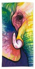 Lucky Elephant Spirit Beach Sheet by Sarah Jane