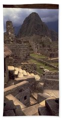 Beach Towel featuring the photograph Machu Picchu by Travel Pics