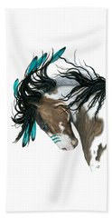 Majestic Turquoise Horse Beach Towel by AmyLyn Bihrle