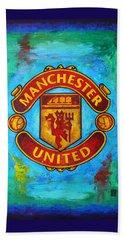Manchester United Vintage Beach Towel by Dan Haraga