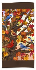 Maple Tree Marvel - Bird Painting Beach Sheet by Crista Forest