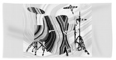 Marbled Music Art - Drums - Sharon Cummings Beach Towel by Sharon Cummings