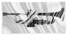 Marbled Music Art - Trumpet - Sharon Cummings Beach Sheet by Sharon Cummings