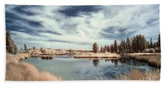 Marshlands In Washington Beach Towel by Jon Glaser