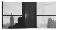 Me And Nyc Beach Towel by J Montrice
