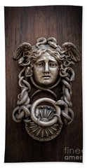 Medusa Head Door Knocker Beach Sheet by Edward Fielding