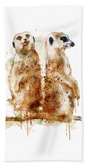 Meerkats Beach Sheet by Marian Voicu