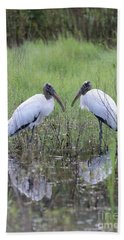 Meeting Of The Minds Beach Towel by Carol Groenen
