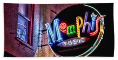 Memphis Music Beach Towel by Stephen Stookey