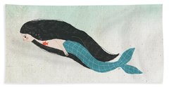 Mermaid Beach Towel by Carolina Parada