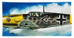 Messerschmitt Fighter Beach Towel by Wilf Hardy