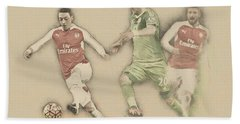Mesut Ozil Beach Towel by Don Kuing