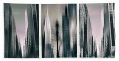 Metropolis Triptych II Beach Sheet by Jessica Jenney
