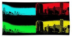 Miami Pop Art Panorama Beach Sheet by Christiane Schulze Art And Photography