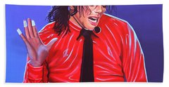 Michael Jackson 2 Beach Sheet by Paul Meijering