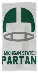 Michigan State Spartans Vintage Art Beach Sheet by Joe Hamilton