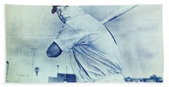 Mickey Mantle Beach Towel by Miguel Lopez