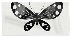 Midnight Butterfly 3- Art By Linda Woods Beach Sheet by Linda Woods
