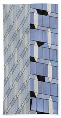 Midtown Architecture  Beach Sheet by Sandy Taylor