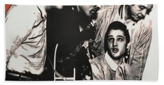 Million Dollar Quartet Beach Towel by Luis Ludzska