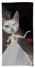 Miss Kitty Beach Towel by Juli Scalzi