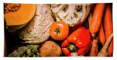 Mixed Vegetable Produce Pack Beach Towel by Jorgo Photography - Wall Art Gallery