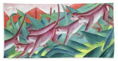 Monkey Frieze Beach Sheet by Franz Marc